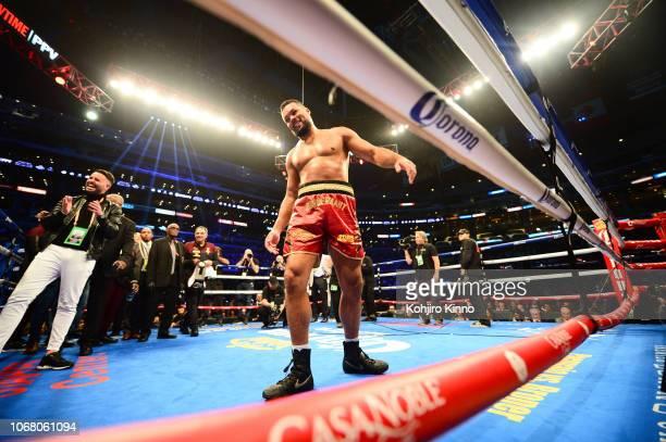 WBC Continental Heavyweight Title Joe Joyce entering ring before fight vs Joe Hanks at Staples Center Los Angeles CA CREDIT Kohjiro Kinno