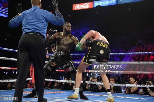 WBC Heavyweight Title Fight Deontay Wilder in action vs Tyson Fury at MGM Grand Garden Las Vegas NV CREDIT John W McDonough