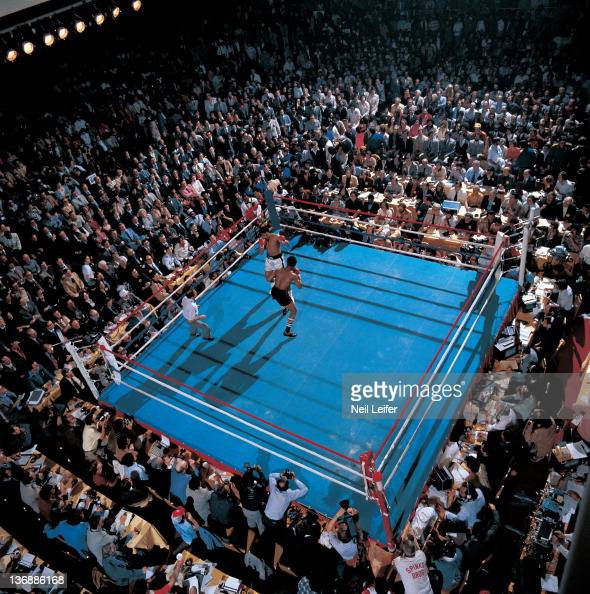 Aerial View Of Muhammad Ali In Action Vs Leon Spinks