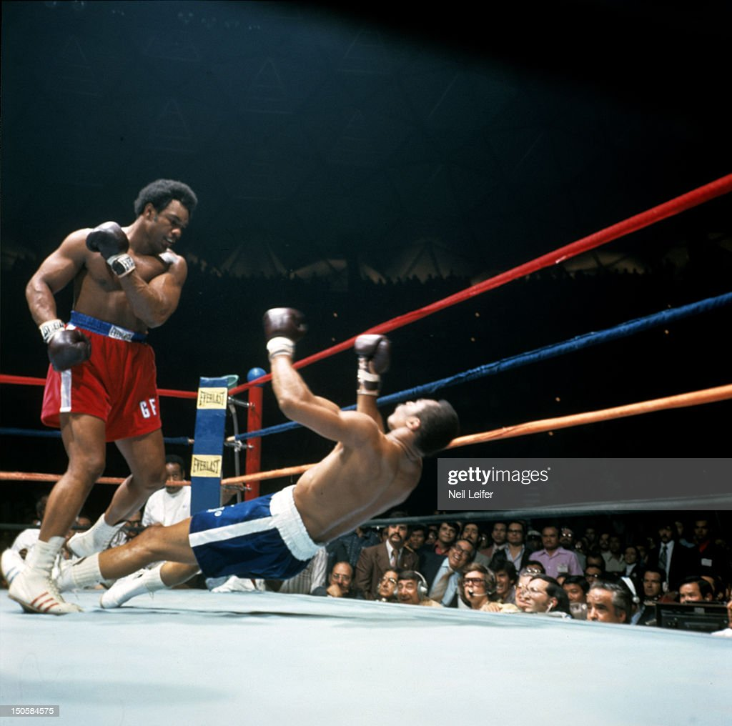 George Foreman In Action, Making Round 2 Knockout Of Ken