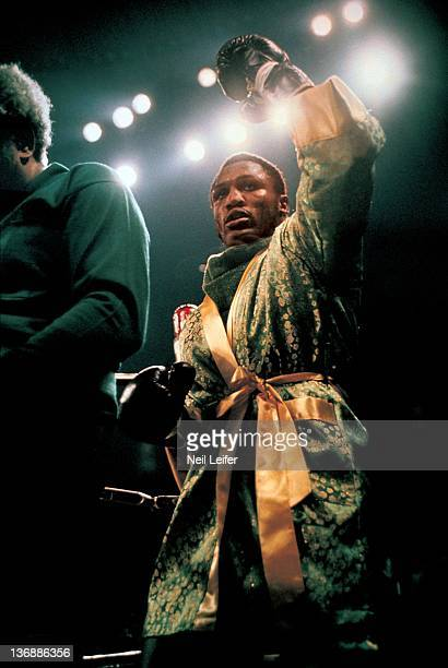 Boxing WBC/ WBA World Heavyweight Title Joe Frazier victorious after winning fight with round 15 decision vs Muhammad Ali at Madison Square Garden...
