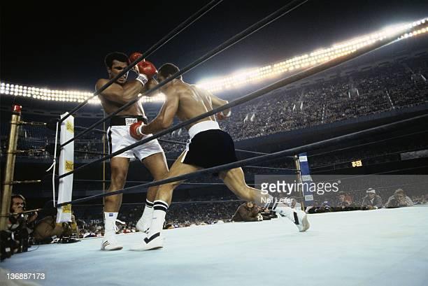Boxing WBC/ WBA World Heavyweight Title Muhammad Ali in action vs Ken Norton during fight at Yankee Stadium Bronx NY 9/28/1976 CREDIT Neil Leifer
