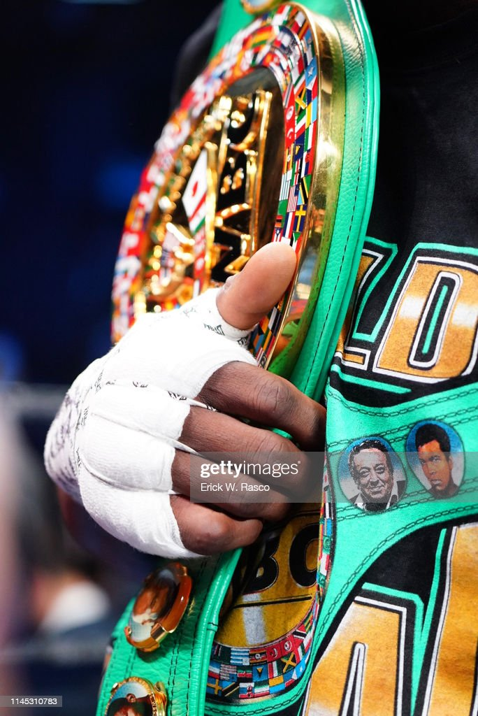 Deontay Wilder vs Dominic Breazeale, WBC World Heavyweight Title : News Photo