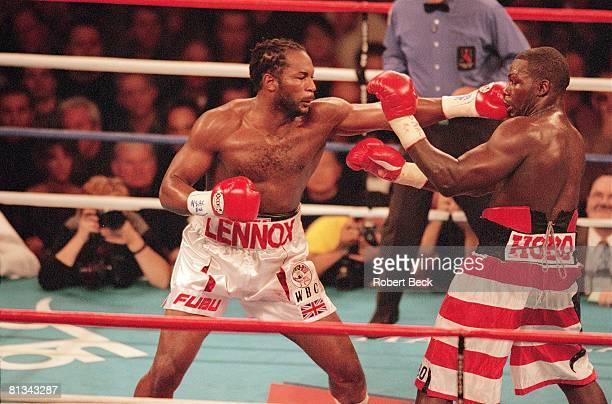 Boxing: WBC/IBF Heavyweight Championship, Lennox Lewis in action vs Hasim Rahman, Las Vegas, NV
