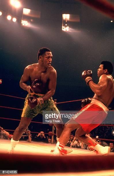 Boxing WBC/WBA Heavyweight Title Joe Frazier in action vs Muhammad Ali at Madison Square Garden New York NY 3/8/1971