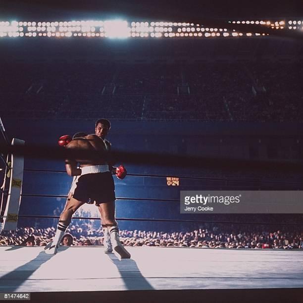 Boxing WBC/WBA Heavyweight Title Muhammad Ali in action throwing punch vs Ken Norton at Yankee Stadium Bronx NY 9/28/1976