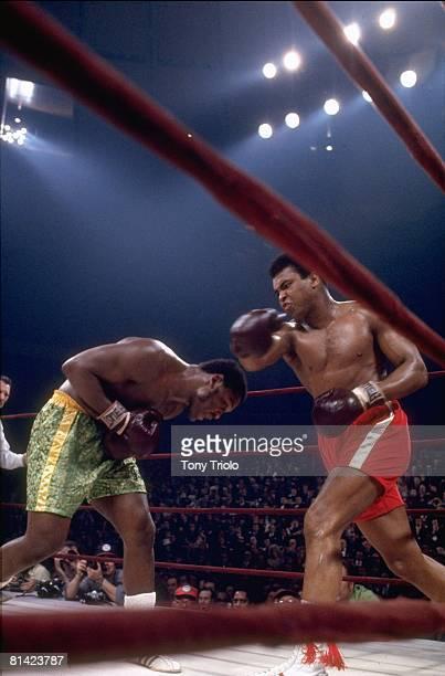 Boxing WBC/WBA Heavyweight Title Muhammad Ali in action vs Joe Frazier at Madison Square Garden New York NY 3/8/1971