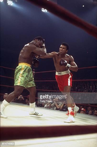 Heavyweight Title, Muhammad Ali in action vs Joe Frazier at Madison Square Garden, New York, NY 3/8/1971