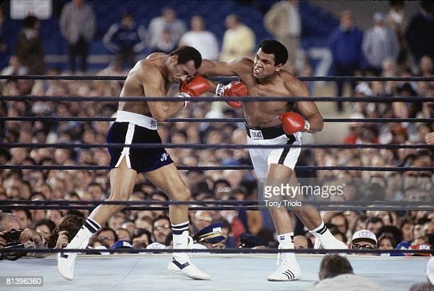 Boxing WBC/WBA Heavyweight Title Muhammad Ali in action vs Ken Norton at Yankee Stadium Bronx NY 9/28/1976