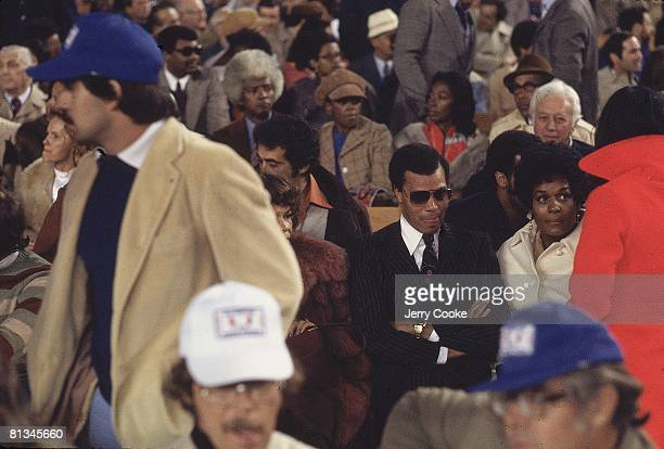 Boxing WBC/WBA Heavyweight Title View of Louis Farrakhan in crowd during Muhammad Ali vs Ken Norton fight at Yankee Stadium Bronx NY 9/28/1976