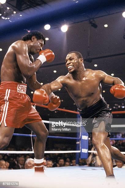 Heavyweight Title: Mike Tyson in action vs Tony Tucker at Hotel Hilton. Las Vegas, NV 8/1/1987 CREDIT: Manny Millan