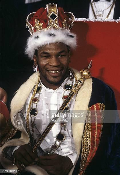 Heavyweight Title: Portrait of Mike Tyson before match vs Tony Tucker at Hotel Hilton. Las Vegas, NV 8/1/1987 CREDIT: Manny Millan