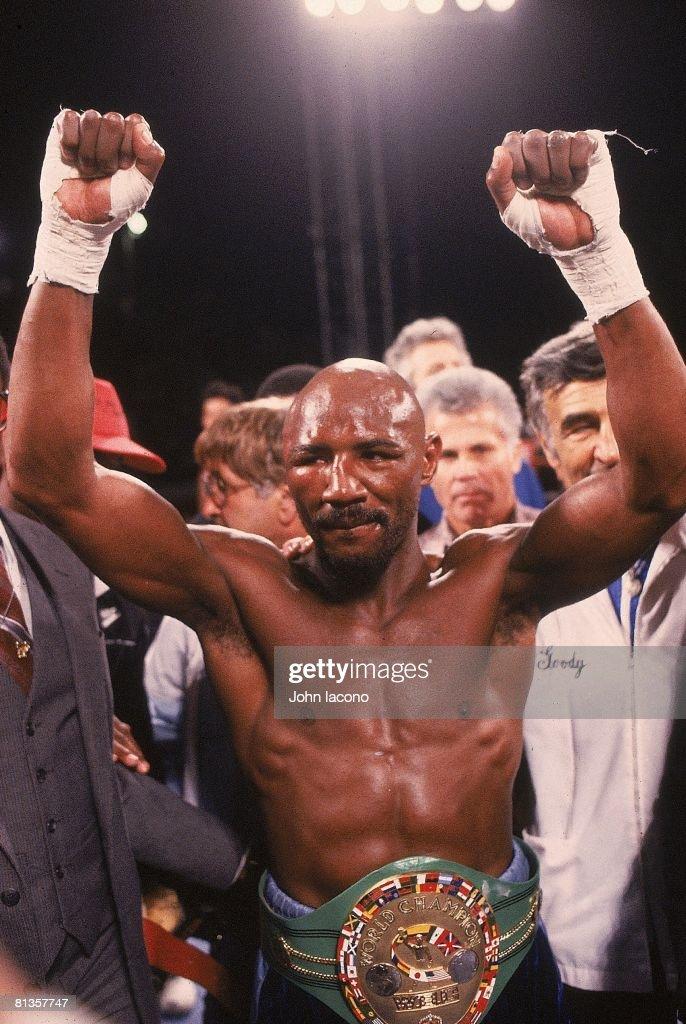 Marvin Hagler, 1986 WBC/WBA/IBF Middleweight Title : News Photo