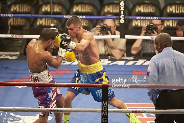 WBO World Featherweight Title Vasyl Lomachenko in action vs Gamalier Rodriguez at MGM Grand Garden Arena Las Vegas NV CREDIT Simon Bruty