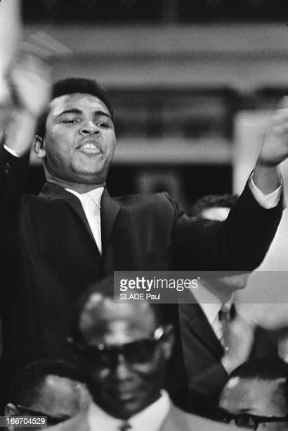 Boxing World Champion Cassius Clay Attends The National Brotherhood Week At The Chicago Coliseum The Annual Meeting Of The Black Muslim Nation Of...