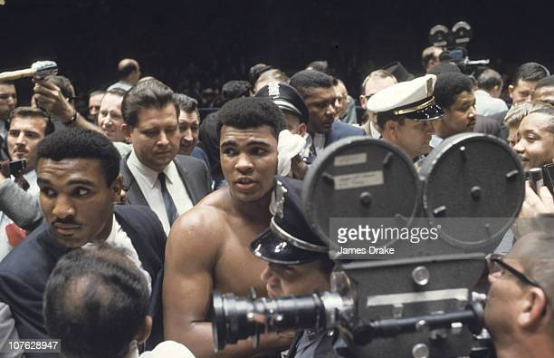 World Heavyweight Title Cassius Clay surrounded by crowd in ring after fight vs Cleveland Williams at Houston AstrodomeHouston TX CREDIT James Drake