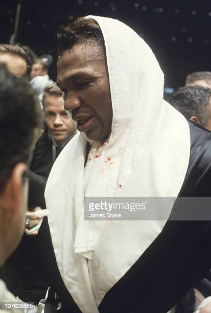 World Heavyweight Title Closeup of Cleveland Williams after fight vs Cassius Clay at Houston AstrodomeHouston TX CREDIT James Drake
