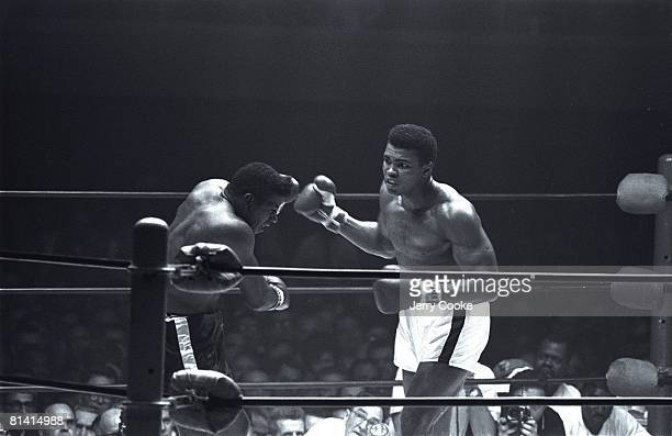 Boxing World Heavyweight Title Muhammad Ali in action vs Floyd Patterson at Convention Center Las Vegas NV