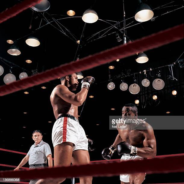 Boxing World Heavyweight Title Sonny Liston in action vs Muhammad Ali during fight at Miami Beach Convention Hall Miami Beach FL 2/25/1964 CREDIT...