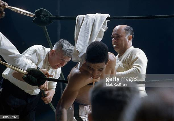 World Middleweight Title Randy Turpin in his corner during fight vs Bobo Olson at Madison Square Garden New York NY CREDIT Mark Kauffman