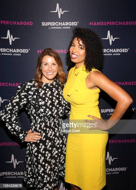 BoxUnion President Felicia Alexander and Writer Jazz SmollettWarwell attend the SUPERCHARGED Summit By Kwanza Jones At NeueHouse Hollywood on October...
