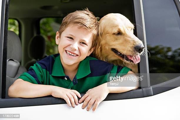 Garçon & son chien