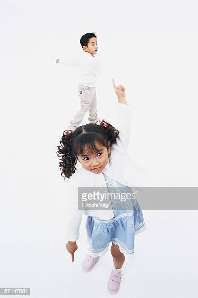 A boy and a girl dancing