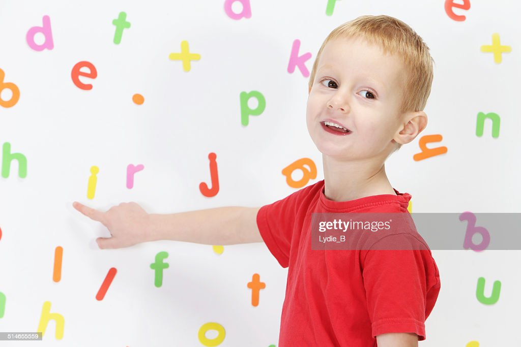 Boy and alphabet