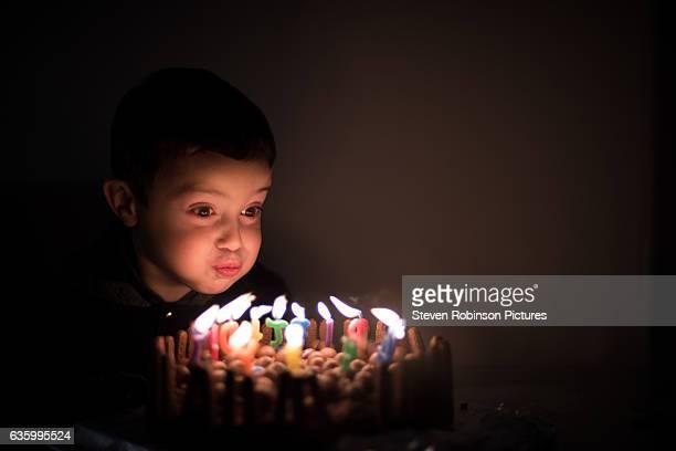 Boy and Birthday Cake 2