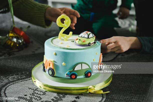 Strange Car Birthday Cake Stock Pictures Royalty Free Photos Images Personalised Birthday Cards Veneteletsinfo