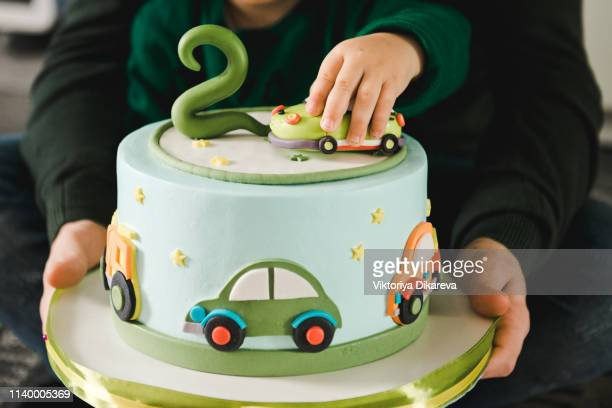 Groovy Car Birthday Cake Stock Pictures Royalty Free Photos Images Personalised Birthday Cards Veneteletsinfo