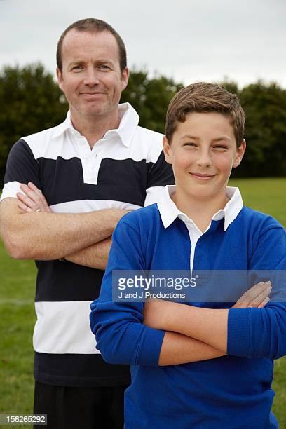 Boy and coach