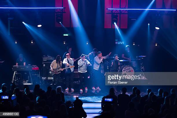 'Boy' and 'Fettes Brot' perform during the 1Live Krone 2015 at Jahrhunderthalle on December 3 2015 in Bochum Germany