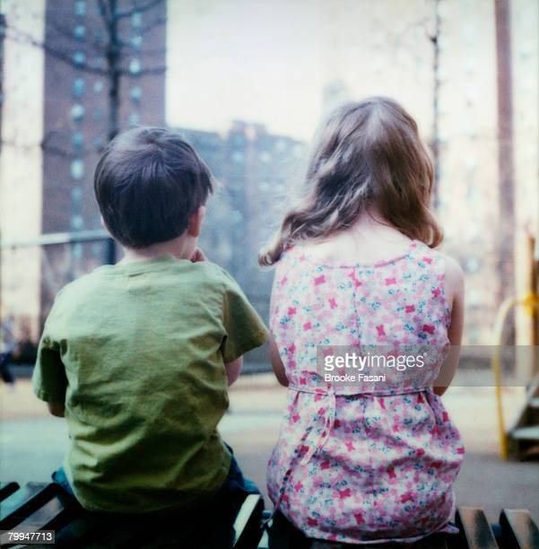Boy and Girl at Playground