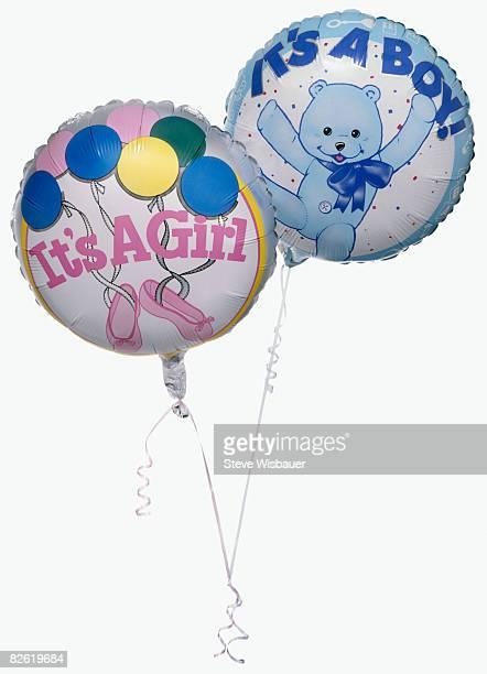 boy and girl balloons