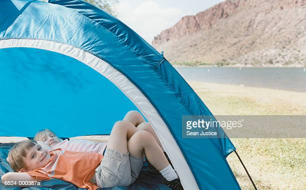Boy and Girl in Tent