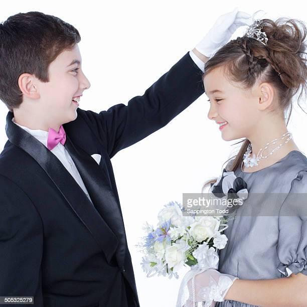 Boy And Girl In Wedding Dress