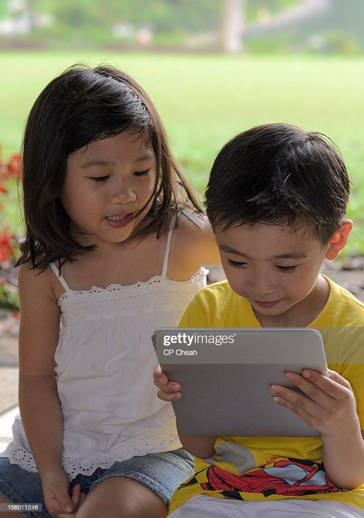 Boy and Girl : Stock Photo