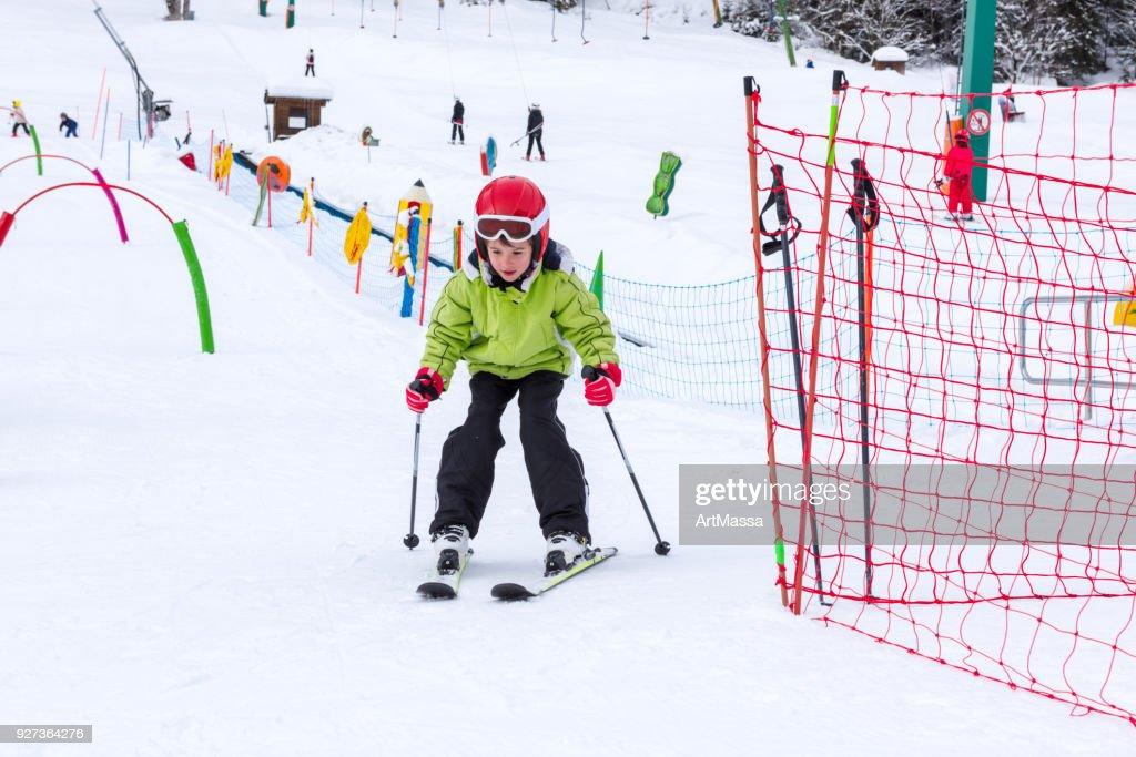 少年・少女スキー学校 : ストックフォト