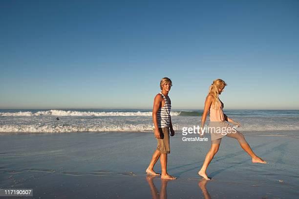 Boy and Girl splashing
