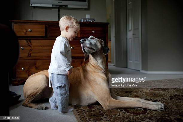 Boy and Great Dane