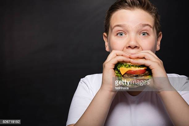 Boy and Hamburger