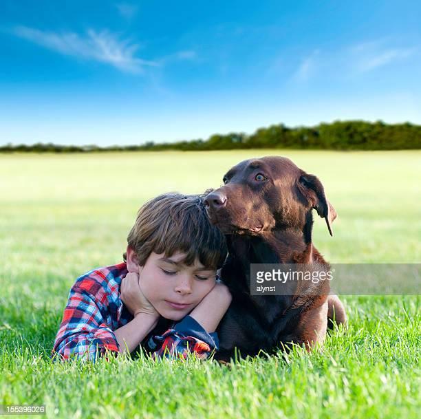 Boy and His Labrador