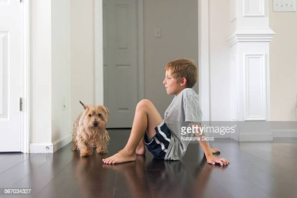 A boy and his Yorkie