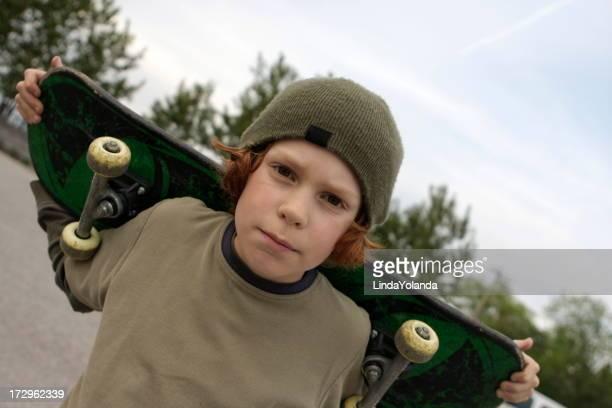 Boy and Skateboard