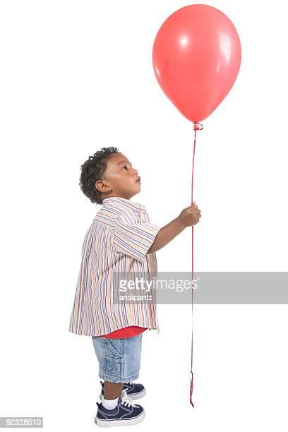 Junge und den balloon
