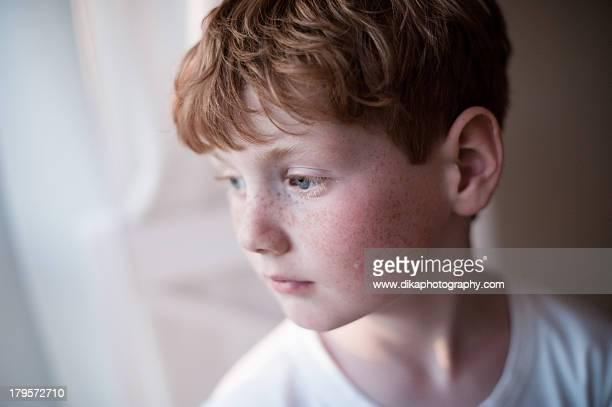 Boy at a window