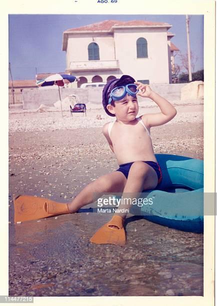 Boy at beach, Italy