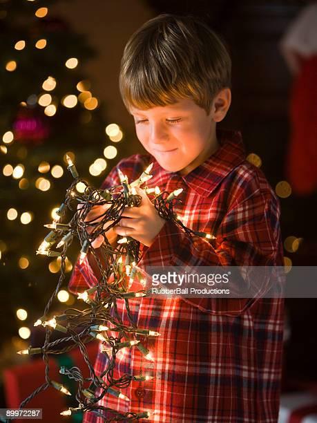 boy at christmas
