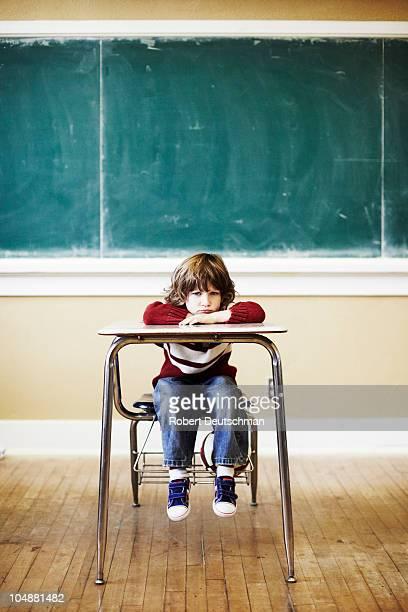 Boy at Desk